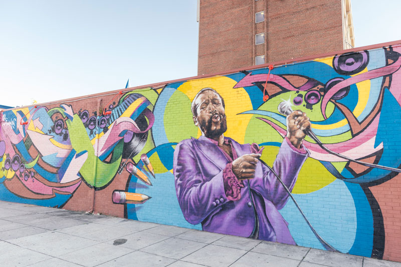 Marvin Gaye Street Mural in Shaw - Street Art in Washington, DC