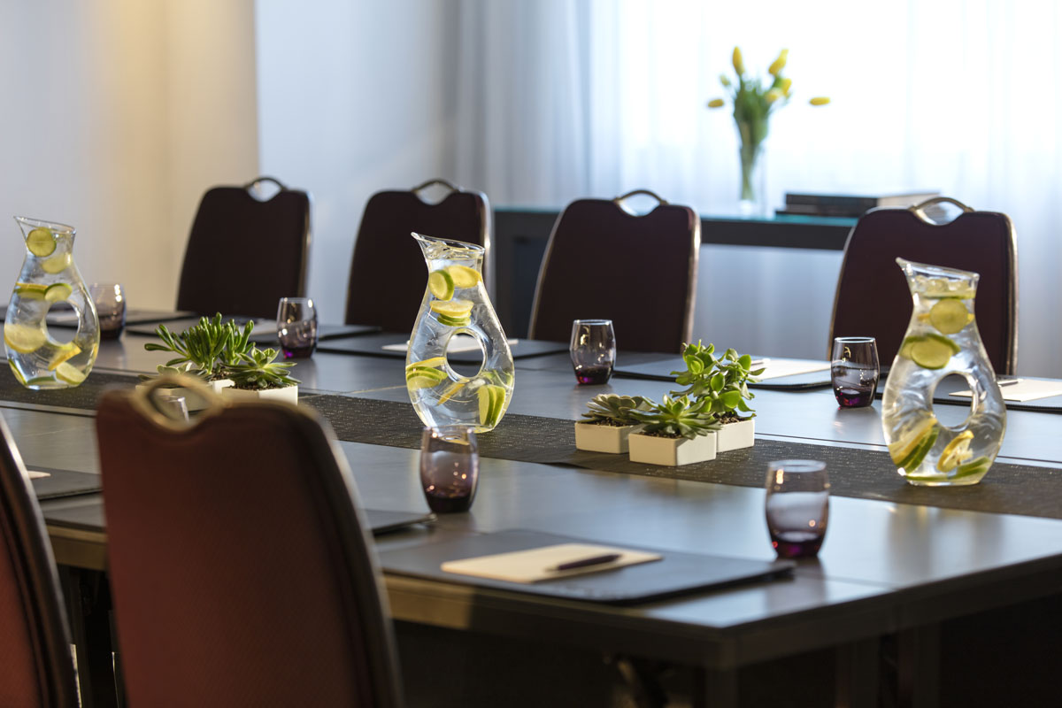 Pequeña sala de reuniones en el Hotel Kimpton Donovan en Washington, DC