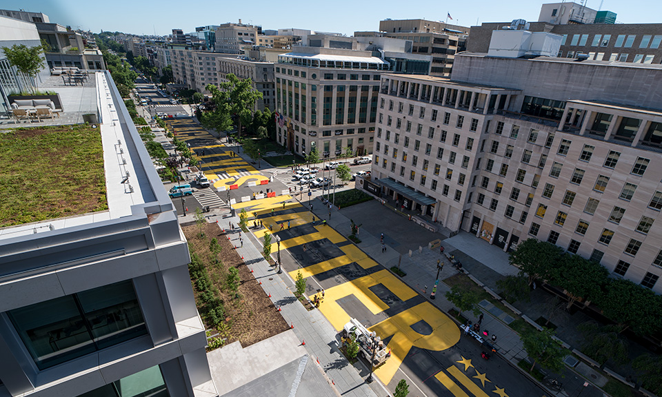 Black Lives Matter Plaza in Washington, DC
