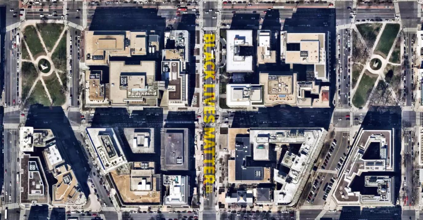 Black Lives Matter Plaza Satellite View