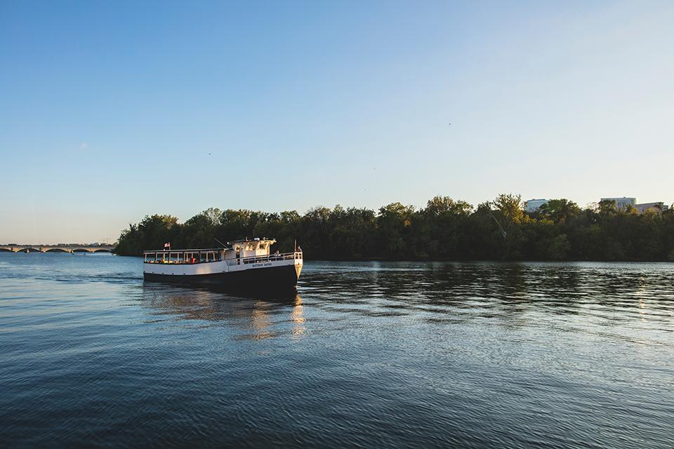 Boot auf dem Potomac River