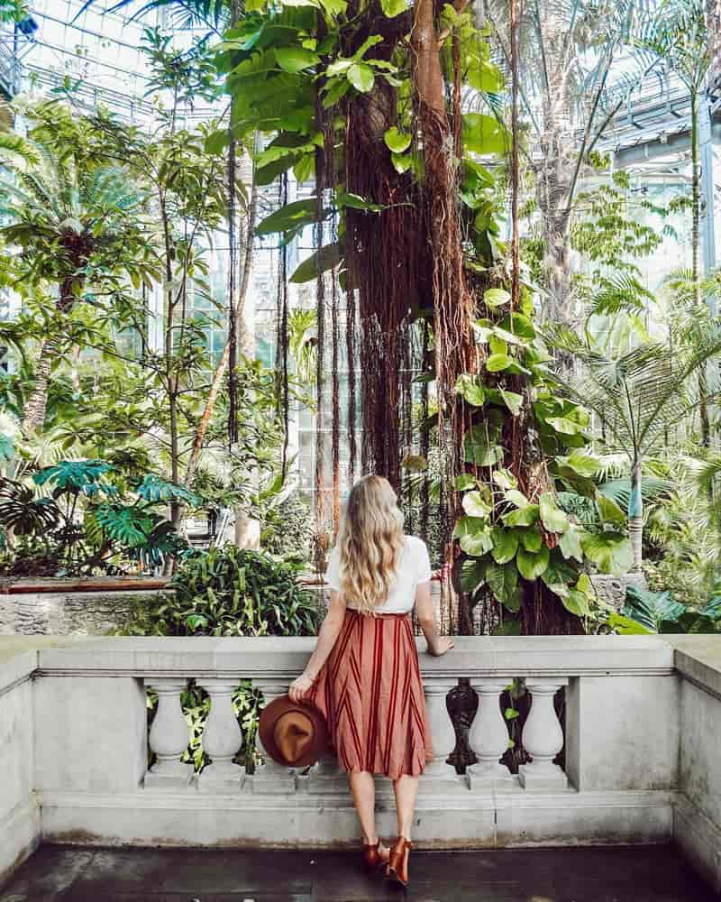 @classyandkate - Woman at United States Botanic Garden on the National Mall - Free museum attraction in Washington, DC
