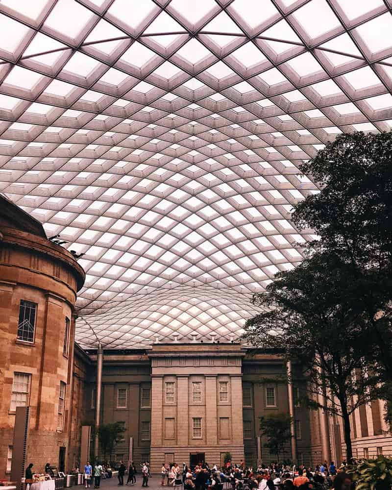 @emilungmus - Kogod Courtyard in downtown Washington, DC - Unique date spots in DC