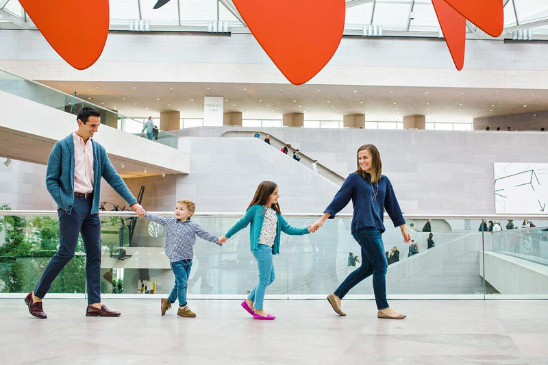 @ericabakerphoto - Family at the National Gallery of Art East Building on the National Mall - Free museum in Washington, DC