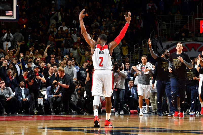 John Wall Celebrating at Capital One Arena - Washington Wizards Basketball in Washington, DC