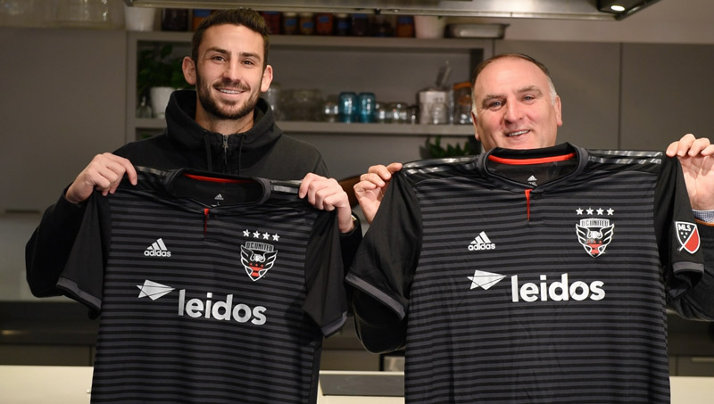 Chef José Andrés with D.C. United jersey - Where to eat at Audi Field in Washington, DC