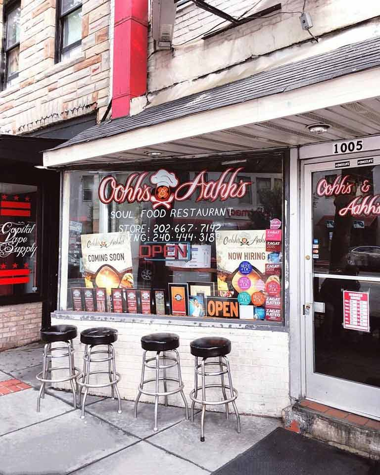 Ooh's and Aahh's soul food restaurant on U Street in DC - Black-owned businesses in Washington, DC