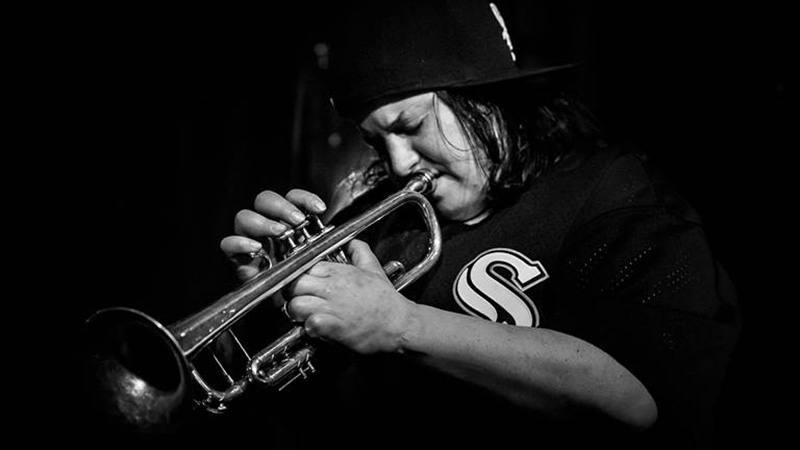 Jaimie Branch, the Brooklyn–based trumpeter/composer, playing the Trumpet