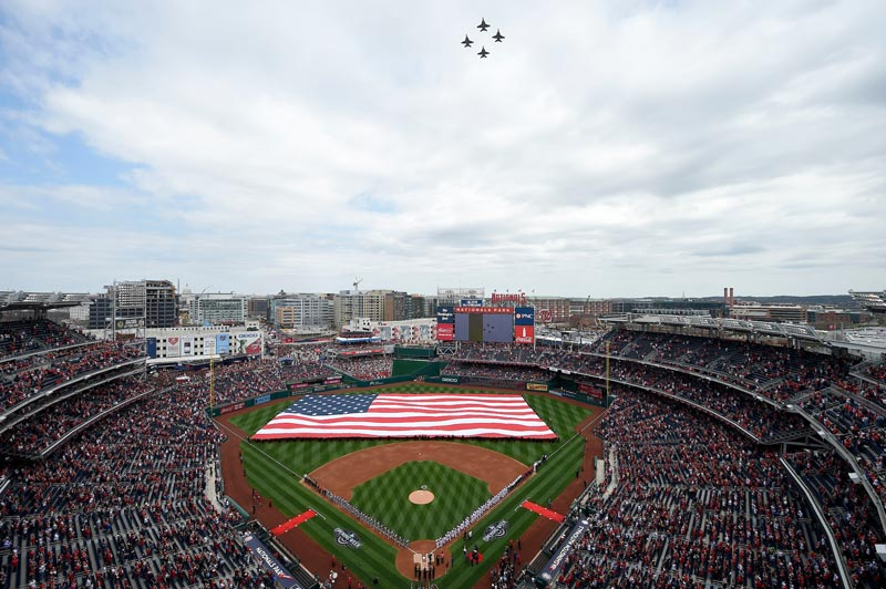 Plane flyover at Washington Nationals game at Nationals Park - Things to do in Washington, DC