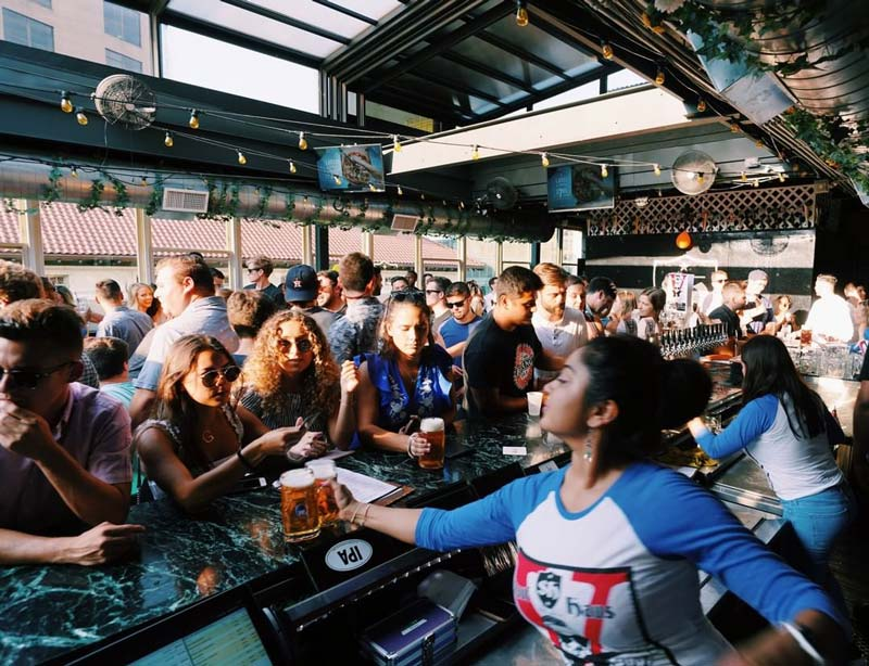 @saufhausdc - Rooftop beer garden in Dupont Circle - DC's best beer gardens