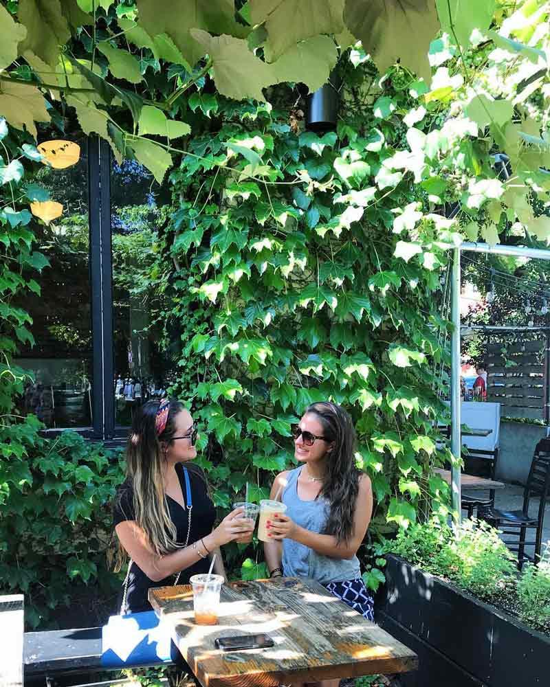 @ sister.stems - Invitados en el patio de Big Bear Cafe en Bloomingdale - Dónde comer y beber en el vecindario Bloomingdale de DC