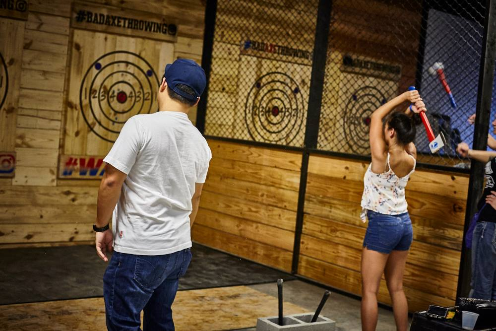 Axe throwing at Bad Axe Throwing - Adventurous and fun date idea in Washington, DC