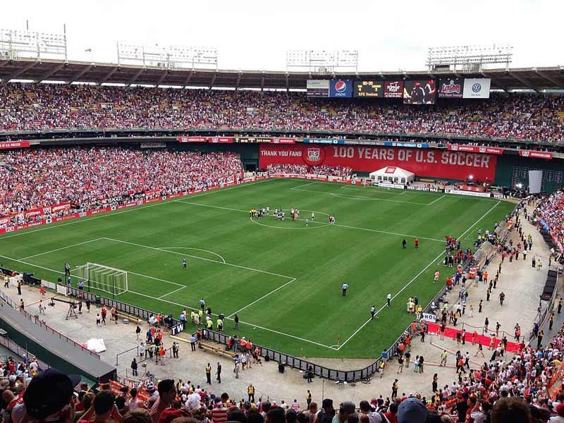 Internationales Fußballspiel im Robert F. Kennedy Memorial Stadium - Sportveranstaltungen im RFK-Stadion in Washington, DC