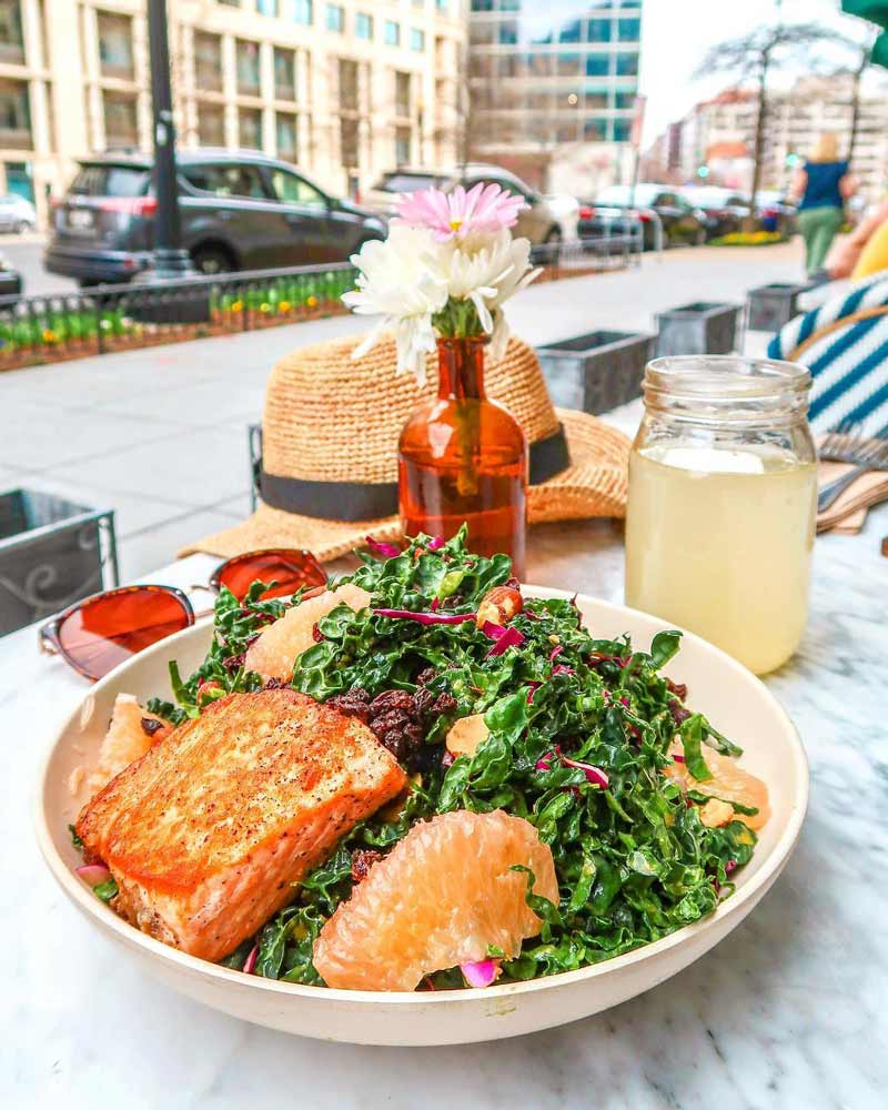 @taralynnmcnitt - Organic salmon salad from Flower Child - Healthy, fast-casual food in Washington, DC