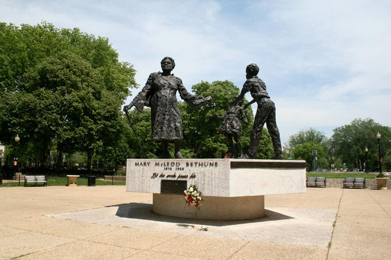 Mary McLeod Bethune Statue in Lincoln Park on Capitol Hill - Civil Rights Statue in Washington, DC