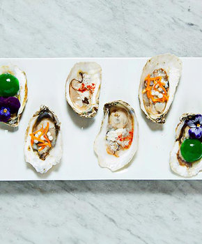 Oysters at Plume - Michelin Starred Restaurant in Washington, DC