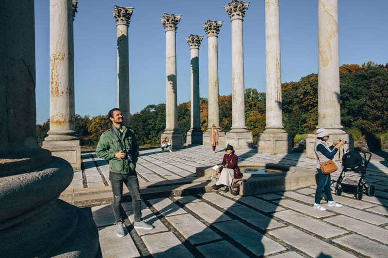 Visitors at the U.S. National Arboretum National Capitol Columns - Free things to do in Washington, DC