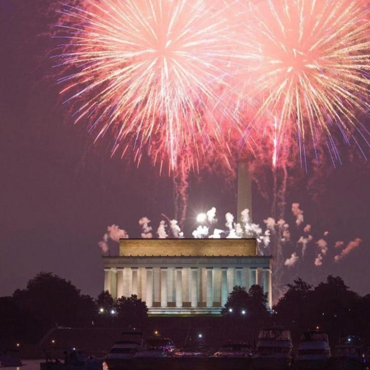 @abpanphoto - Fuegos artificiales del XNUMX de julio en el National Mall en Washington, DC - Vacaciones de verano en DC