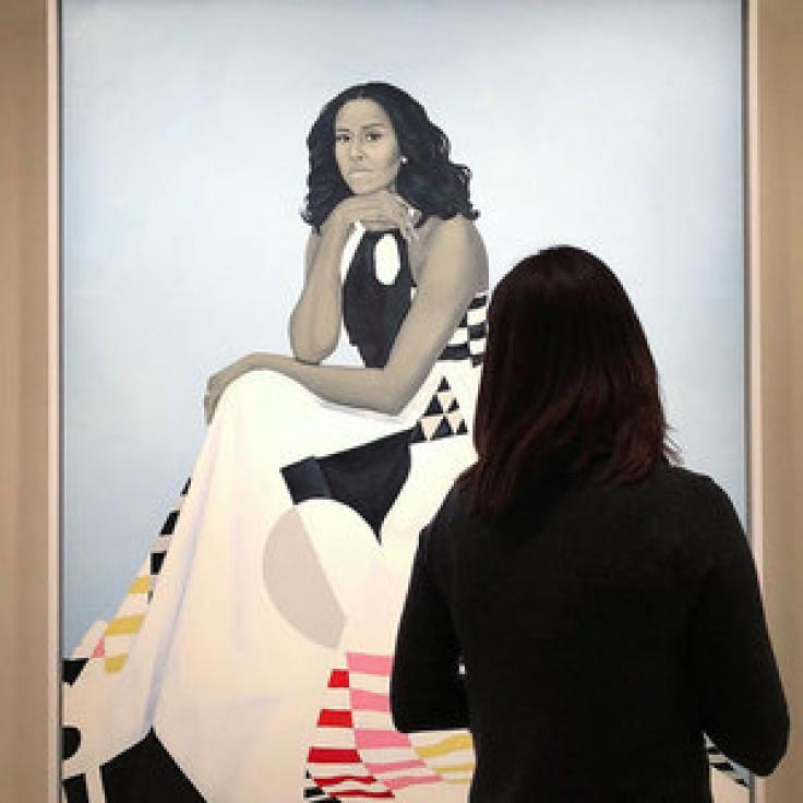 @aquinsta - Michelle Obama portrait at Smithsonian National Portrait Gallery - Art museum in Washington, DC