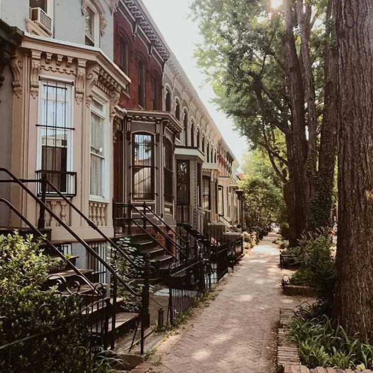 @capitalcameron - Casas en hilera de Swann Street cerca de Logan Circle - Lugares para ir cerca de 14th Street en Washington, DC