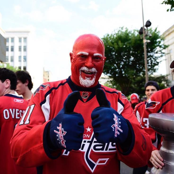Capitals Fan in Red