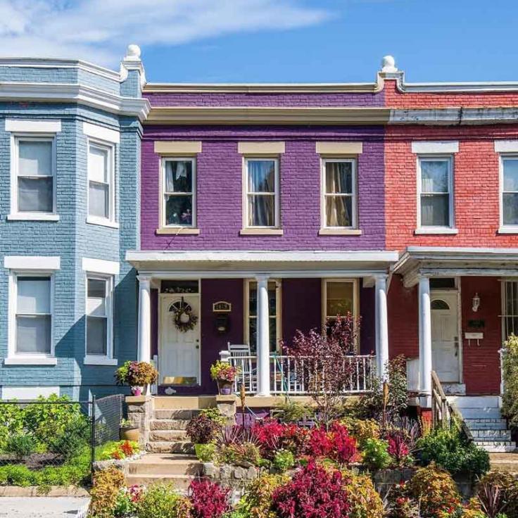 @chrisellenbogen - Bunte Häuser am H Street NE-Korridor - Nachbarschaften in Washington, DC