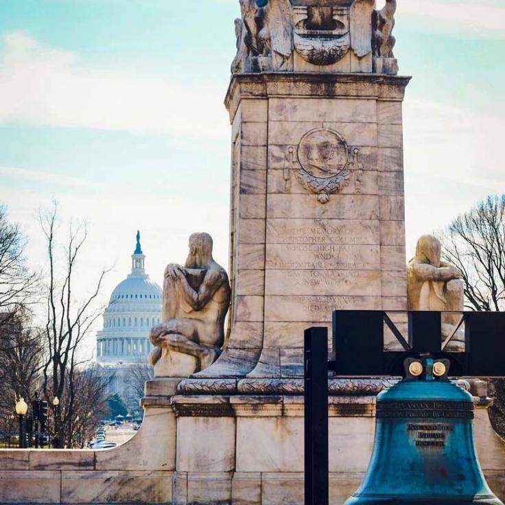 @jerseybeanstateside - Vista de la cúpula del Capitolio de los Estados Unidos desde Union Station en Washington, DC