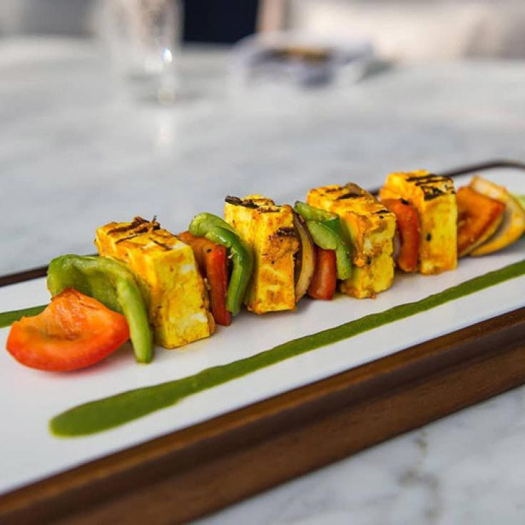 @karmamodernindian - Paneer shashlik dish from Karma Modern Indian - The best restaurants in Washington, DC