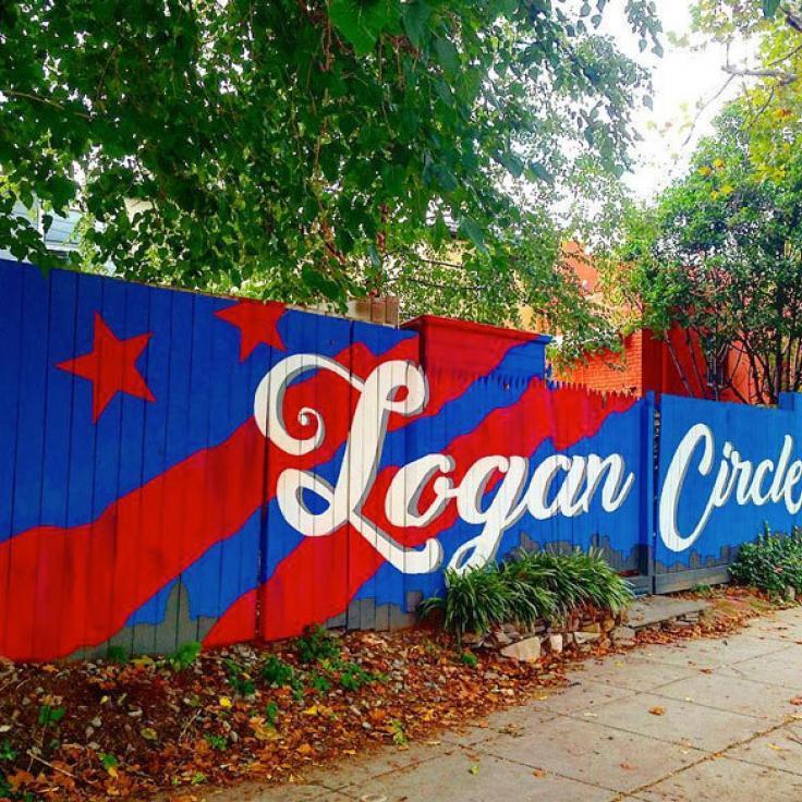 @loveofleisure - Mural de Logan Circle en la cerca - Vecindarios en Washington, DC