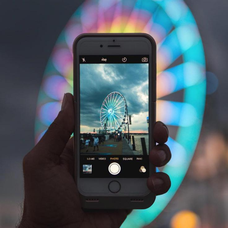 @lu8cho - Foto eines Fotos vom Capital Wheel - National Harbour in Maryland