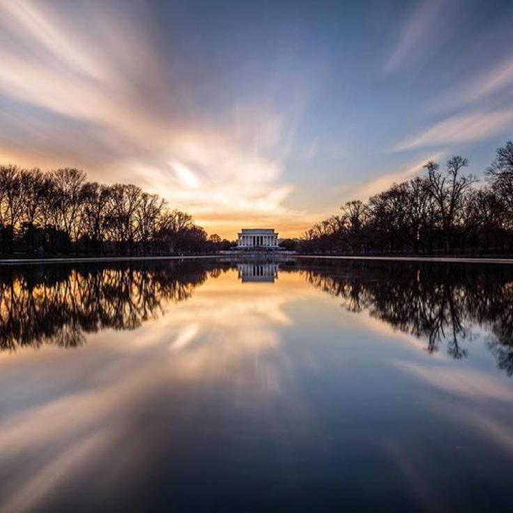 @maxencelefort - Sunset over the Lincoln Memorial Reflecting Pool - Washington, DC
