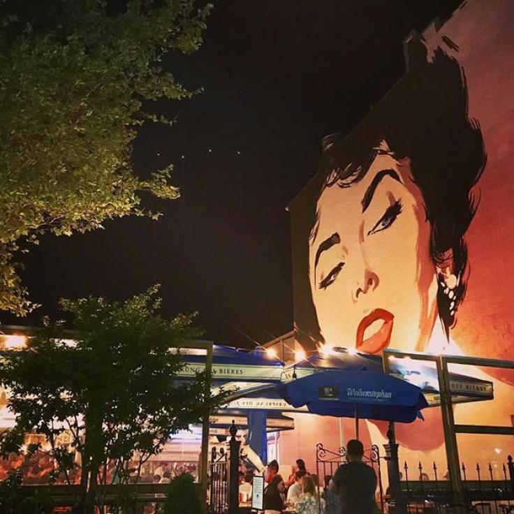 @nightowlmel - Elizabeth Taylor mural at Dacha Beer Garden in Shaw - Best things to do in Washington, DC