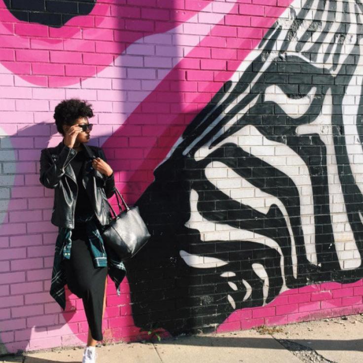@thejoyofstylingllc - Mural de cebra en Union Market en NoMa - Arte callejero en Washington, DC