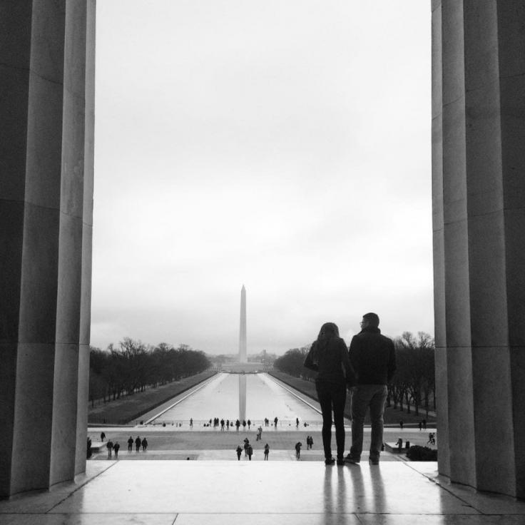 @walkingontravels - Couple at the Lincoln Memorial - Washington, DC