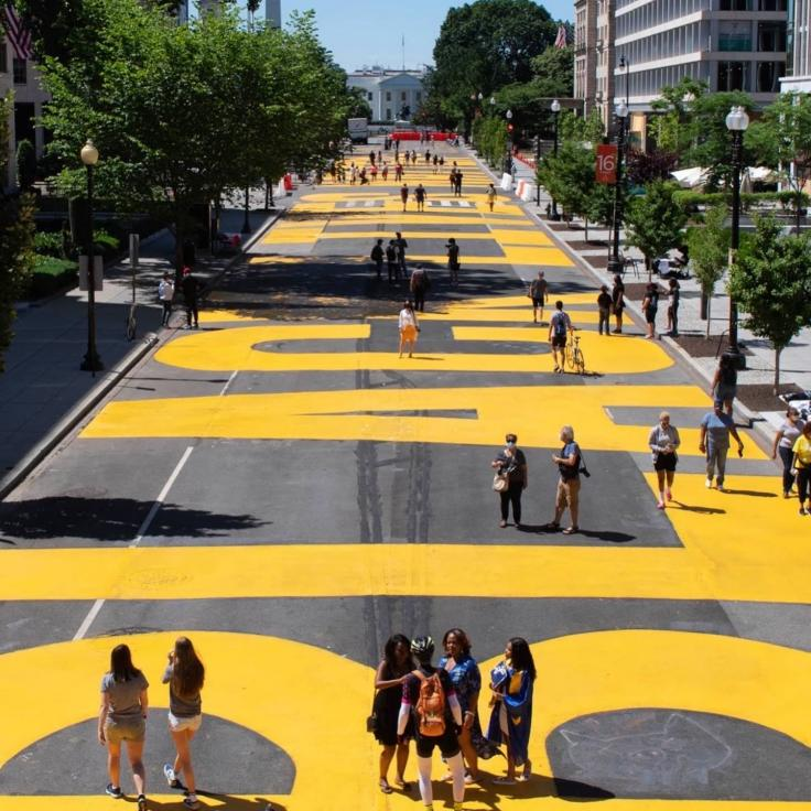 Black Lives Matter Plaza in Washington, DC