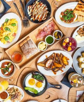Bottomless brunch spread at Boqueria - Where to eat the best brunch in Washington, DC