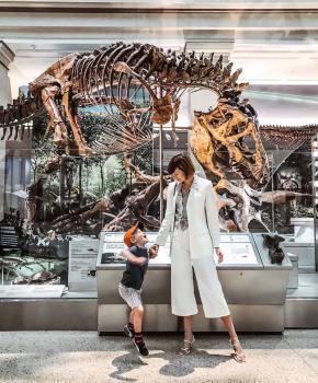 @districtofchic - Mutter mit Kind in der Fossilienhalle des Smithsonian National Museum of Natural History - Kostenlose Aktivitäten in Washington, DC