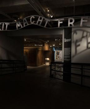 United States Holocaust Memorial Museum in Washington, DC - Auschwitz Replica Entrance Gate