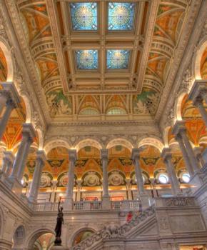 Biblioteca del Congreso Edificio Thomas Jefferson Great Hall - La biblioteca más grande del mundo en Washington, DC