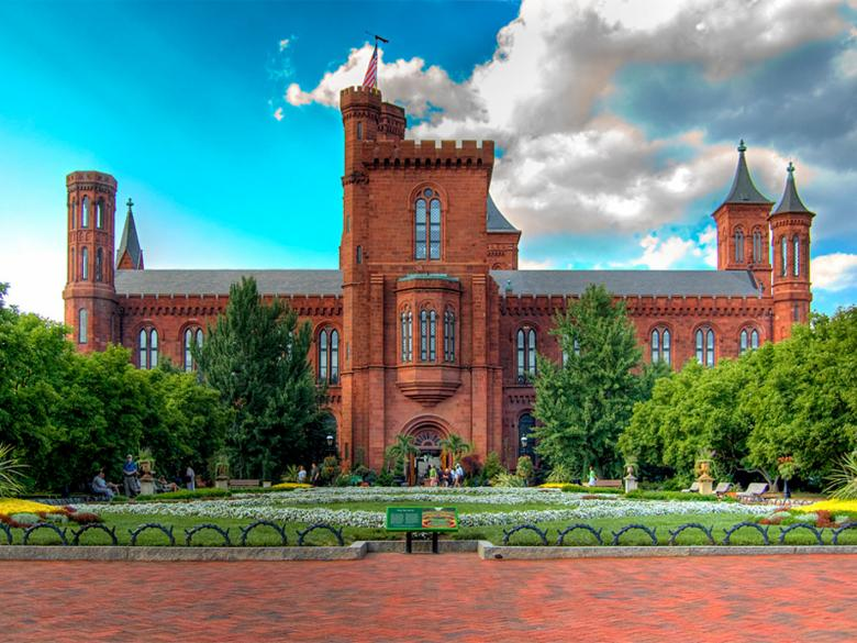 Smithsonian Castle on the National Mall - Washington, DC