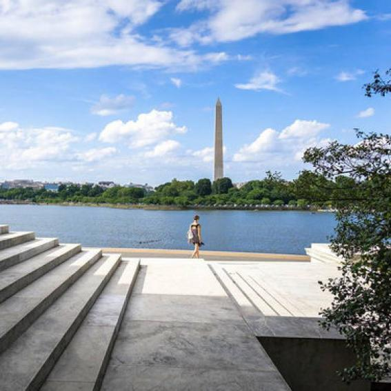 chadharnish - Jefferson Memorial Steps Overlooking the Tidal Basin - Washington, DC