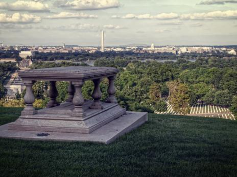 View of Washington, DC Skyline from Arlington National Cemetery in Virginia