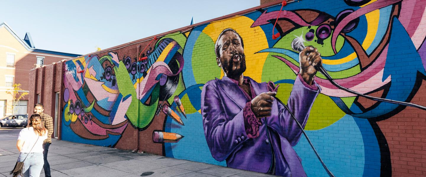 Marvin Gaye Mural by Aniekan Udofia