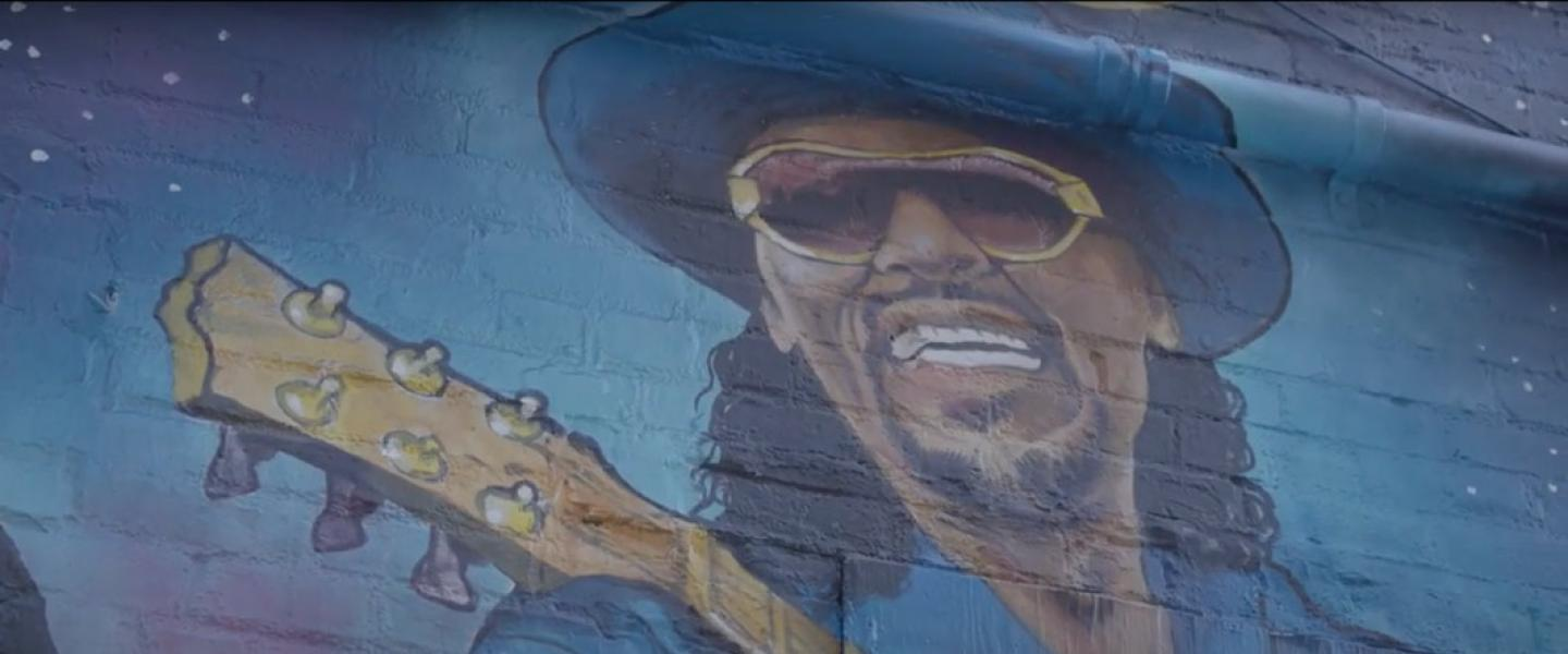 Chuck Brown Street Mural by Aniekan Udofia