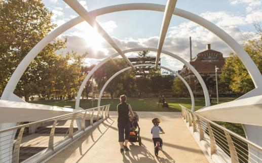 Family Friendly Things to Do on the Capitol Riverfront - Yards Park in Washington, DC