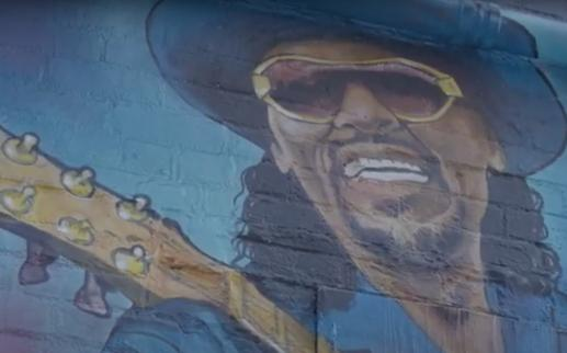 Grandfather of Go-Go Chuck Brown Mural by Aniekan Udofia