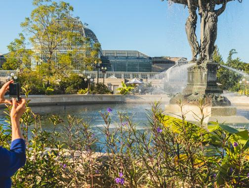 Exterior del jardín botánico