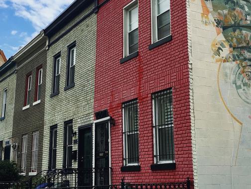 H Street Reihenhäuser und Wandgemälde, Washington DC