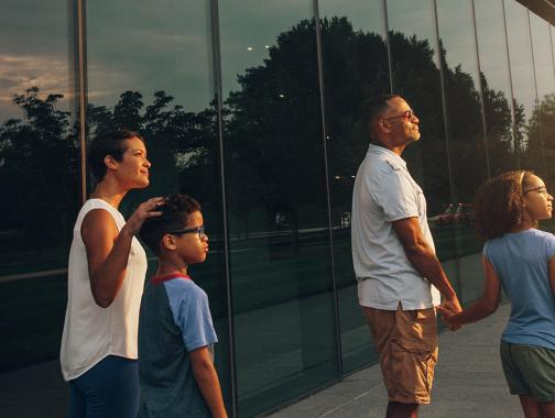 Family at the Smithsonian National Museum of African American History and Culture