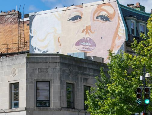 Woodley Park Marilyn Monroe Wandbild